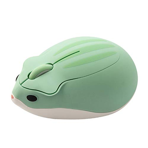 erticvtiu LINhuahua Cute Animal Hamster Shape Wireless Mouse, Silent Bluetooth Mouse, 2.4GHz with USB Receiver, 1200 DPI Optical Tracking, PC/Mac/Laptop