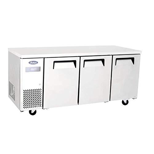 Table Réfrigérée Négative avec Dosseret - Profondeur 700 - Atosa - R290 3 Portes Pleine