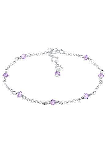 Elli Armband Kinder Bead Bunt Swarovski® Kristalle 925 Silber