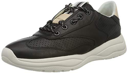 Geox Damen D SMERALDO A Sneaker, Schwarz (Black C9999), 36 EU