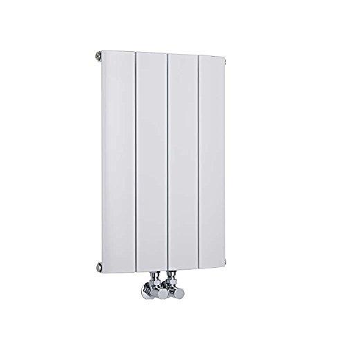 Hudson Reed Radiador Aurora de Diseño Horizontal - Radiador de Aluminio con Acabado Blanco - 461W - 600 x 375mm - Calefacción Moderna