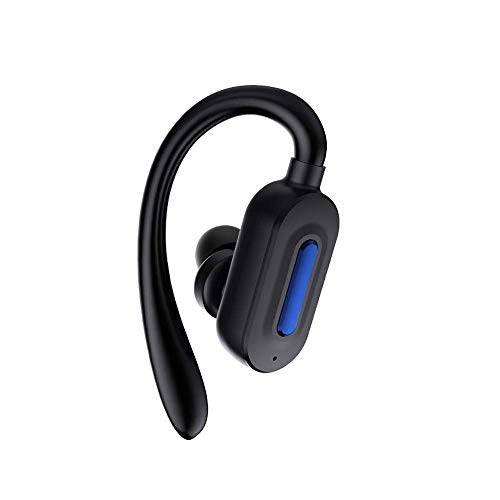 QCHEA Inalámbrica Bluetooth Headset Auriculares, Over-The-Ear Sola Unidad Oreja Impermeable Deporte Auriculares, Puede contestar a Adecuado for iOS y Android