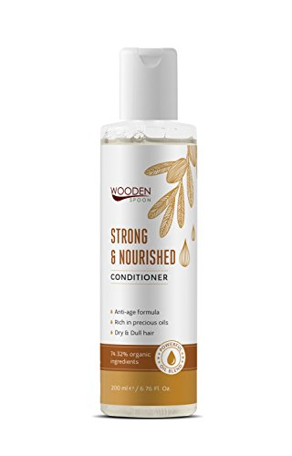 Cuchara de madera fuerte y alimentado pelo acondicionado