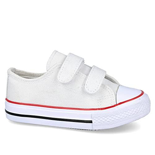 L&R SHOES 15555 Zapatillas Lona niños - Lona para: NIÑO Color: Blanco Talla: 28