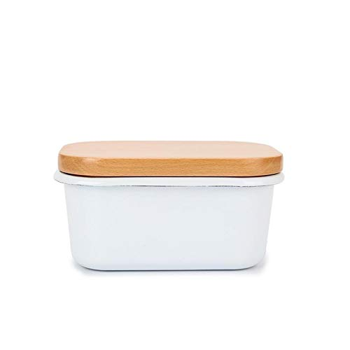 JINGGL Butter Dish Butter Box Ceramic Container Butter Plate With Lid Kitchen Cheese Food Container Tray Dish Storage Container Box (Color : Type 2)