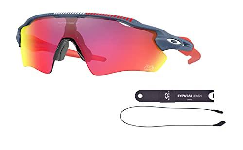 Oakley OO9208 Radar Ev Path 9208C3 38MM Tdf Poseidon/Prizm Road Rectangle Sunglasses for Men + BUNDLE with Oakley Accessory Leash Kit