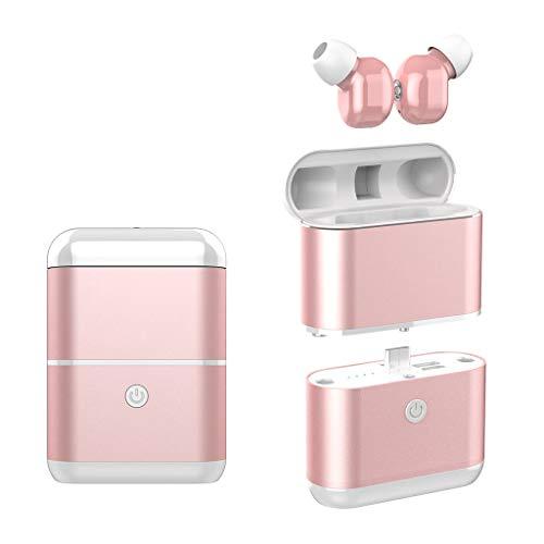 OYSOHE TWS Auriculares Bluetooth Auriculares 5.0 Auriculares Deportivos Mini Auriculares Auriculares (Oro Rosa)