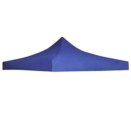UnfadeMemory Techo de Carpa de Jardín,Repuesto para Techo de Carpa Abatible Plegable,Tela Oxford (3x3m, Azul)