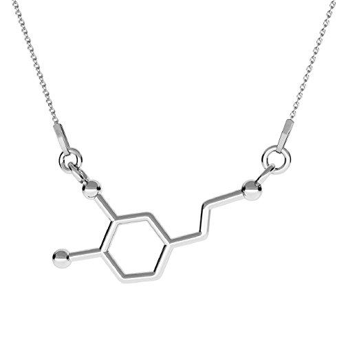 Crystals & Stones **NEU** *Dopamin* *Chemische Formel* Silber 925 *Halskette* Schön Damen Halskette - Anhänger Halskette Schmuck Mutter Geschenk PIN/75