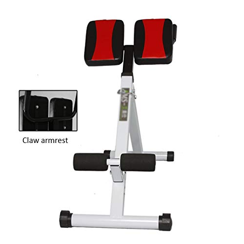 Dumbbell Bench Roman Chair for Home Indoor Sit-ups Folding Bench Press Stool (Color : Black, Size : 45 * 106 * 70-80cm)