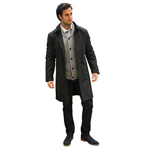 carter & jones Men's Rain Coat Black