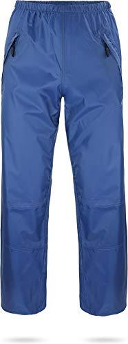 normani Unisex Regenhose 6000 mm wasserdicht, Winddicht und atmungsaktiv mit Reißverschlusstaschen für Damen und Herren Farbe Navy Größe XL