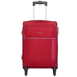 Aristocrat Polyester 58.3 cms Red Softsided Cabin Luggage (Baleno),VIP Industries Ltd,Baleno
