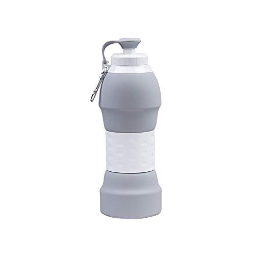 CUP Multi-Purposewater Lagerung Cup Folding Kessel Mouth Cup Mini Tragbare Einziehbare Compression Soft Mit Handschlaufe Deckel Für Wandern Angeln Kunst,Grau