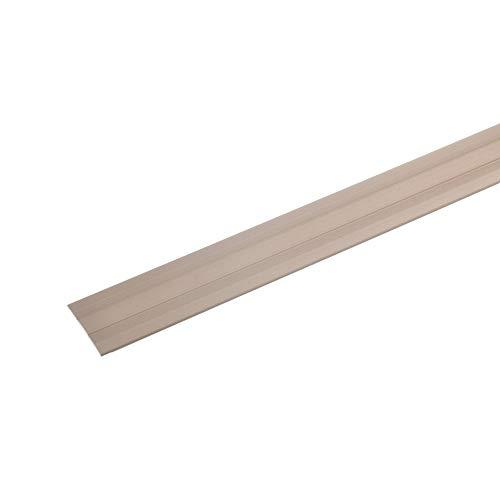 acerto 33042 Übergangsprofil aus Aluminium, selbstklebend, 90 cm - bronze hell * 27 x 1,7mm * Robust * Kratzfest | Übergangsleiste für Teppich, Laminat & Parkett | Alu Übergangsschiene