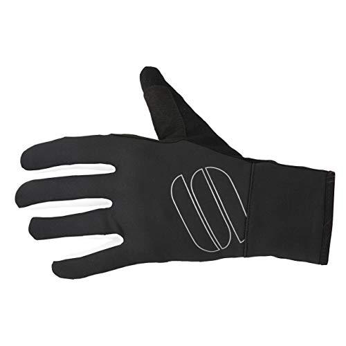 Sportful - Guantes elásticos, Color Negro y Amarillo, XX-Large