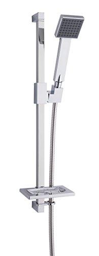 MX Group 5017706599160 Cube-Kit doccia con modalità di getto singola, soffione doccia, cromo