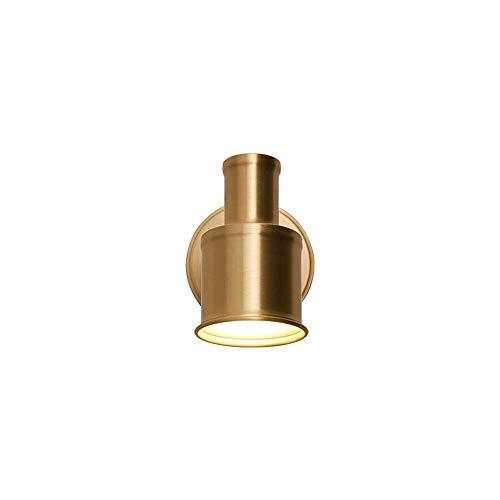 Lámpara De Pared Europea Lámpara De Montaje En Pared Industrial Accesorio De Iluminación Moderno Soporte De Latón Dorado Cabeza Ajustable Aplique De Metal Iluminación De Tocador Base E27 Para Baño Pa