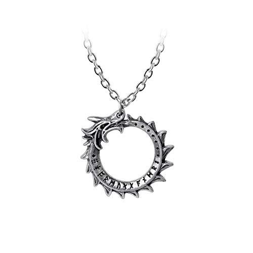 Alchemy Gothic Mini Jormungand Unisex Halskette Standard Hartzinn Drachen, Gothic, Nu Goth, Rockwear
