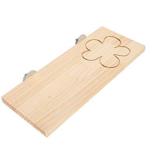 DAUERHAFT Hamsterpedal Exquisit für die meisten Käfige 12,6 x 5,1 x 0,4 Zoll(VV43 Flower Long Springboard)