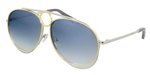 Chloe Damen Ce144s Sonnenbrille, Silver/Gold/Blue Grad Flash, Standard