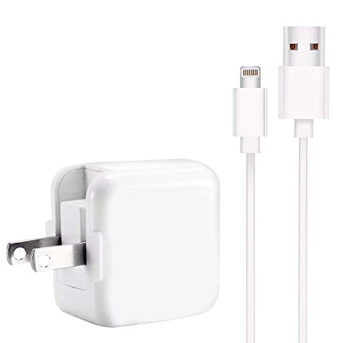 iPhone Charger Compatiblile with iPad Charger 2.4A 12W USB Charger + 6FT Charging Cable, Compatible with iPhone X/8/8Plus/7/7Plus/6s/6sPlus/6/6Plus/SE/5s/5, Pad 4/Mini/Air/Pro, Pod