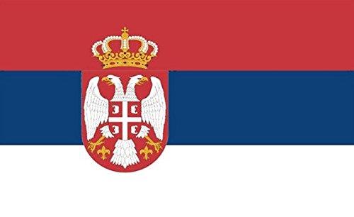 Nouveau drapeau de la Serbie, 100 % polyester, œillets métalliques, double couture, 1,50 m x 0,90 m environ