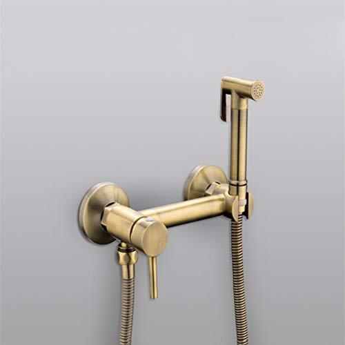 WYH Bidets Pulvérisateur de douche Mélangeur Airbrush Mélangeur eau chaude et froide Kit de vaporisation de WC pour bidet Pulvérisation de bronze Douchette en bronze Lavage Hygiénique