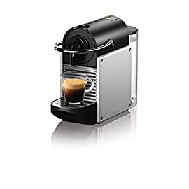 Nespresso EN125S Original Espresso Machine by De'Longhi, Pixie, Aluminum 4 HIGH-TECH: 19 bar high-performance pump and automatic piercing and brewing of capsules with unique drop stop technology. Fast heating time of only 25 seconds ULTRA-COMPACT DESIGN: Elegant profile perfect for those with limited kitchen counter space TACTILE INTERFACE: One-touch controls with 2 programmable buttons, Espresso and Lungo