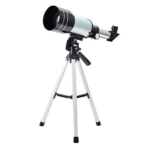Telescopio, telescopio astronómico refractor con trípode para niños principiantes Telescopio astronómico refractor con adaptador de teléfono inteligente para astrofotografía y telescopio de astronomí
