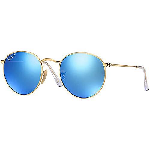 Ray Ban Round Metal RB3447 112/4L Gold/Blue Mirror 50mm Gafas de sol polarizadas