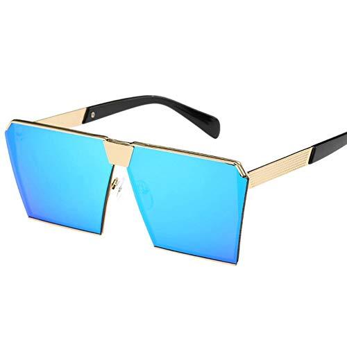winnerruby Gafas de Sol Unisex polarizadas de Aluminio Vintage. Azul