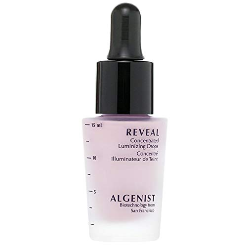 Algenist REVEAL Concentrated Luminizing Drops, Rose - Long-Wearing Liquid Luminizer with Pink Pigments - Lightweight Highlighter - Non-Comedogenic & Hypoallergenic (15ml / 0.5oz)