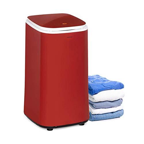 KLARSTEIN Zap Dry - Asciugatrice, 820 W, Capacità: 50 L, Salvaspazio, Cestello in Acciaio Inox, Alloggiamento in Plastica, Pannello di Controllo Touch, Display LED, Rosso