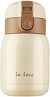 TOOGOO(R) Mini Botella de termo de Acero inoxidable en froma de vientre grande (Beige) 200ml