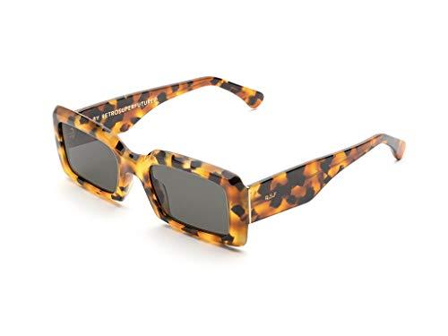 Gafas de sol Retrosuperfuture JXS Sacro Dark Havana Gafas de sol unisex color Havana negro tamaño de lente 53 mm