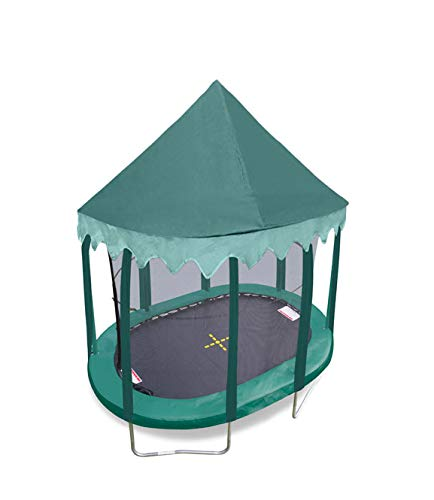 7ft x 10ftft Oval Green Canopy - Trampoline not included
