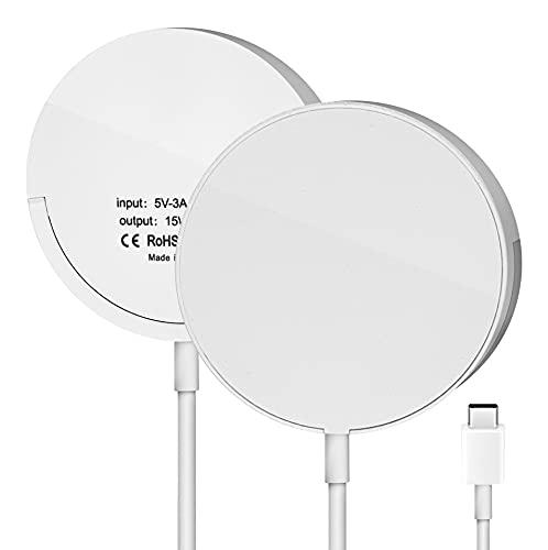 AVOMONT Caricatore magnetico wireless compatibile con stazione di ricarica rapida Apple da 15 W,...