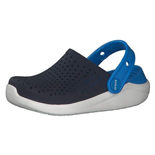 crocs Unisex-Kinder LiteRide K\' Clog, Blau (Navy/White), 34/35 EU