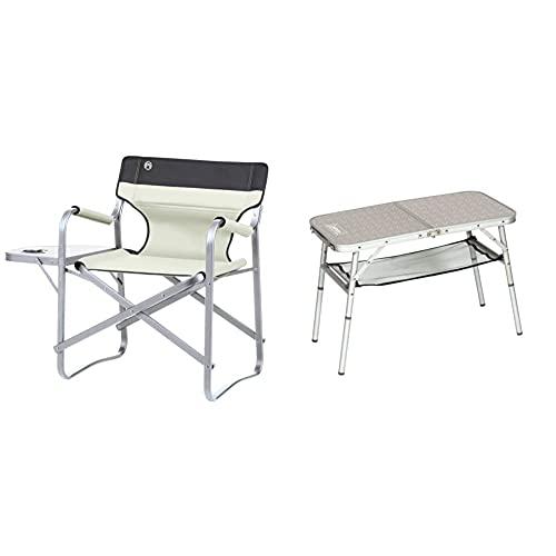 Coleman Campingstuhl Deck Chair & 204395 Campingtisch Mini Camp Table, 80 x 40 x 31,5/55 cm