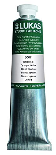 Lukas Designer's Gouache Master Quality Opaque Watercolor Paint - Single 75 ml Tube - Opaque White