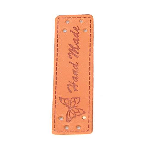 Voluxe Etiquetas de Ropa de Cuero, Etiquetas de Ropa de Etiqueta en Relieve de Ropa para Jean para Abrigo(20 Butterfly Handmade Leather Labels)
