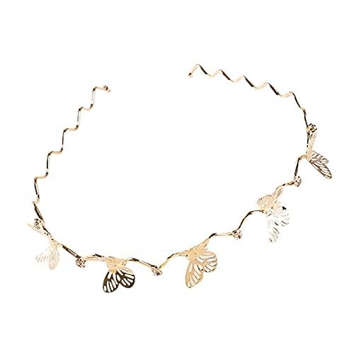 Htipdfg Haarbänder Stirnbänder für Frauen Retro Stil Haarschmuck Perle Blume Blätter Stirnband Einfache Stirnband Mädchen Lünette Haarband Stirnband (Color : WE)