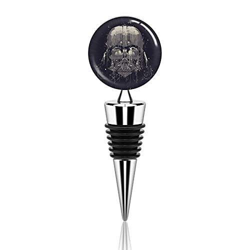 Star Wars Darth Vader Tapones de botella de vino de aleación de zinc tapón de botella reutilizable tapones de botella de corcho juego de accesorios para fiestas, bares, vacaciones, bodas