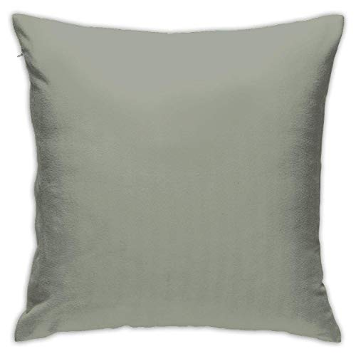 Yuanmeiju Port Of Call Sage Green Cushion Pillow Cases Tropical Decorative Pillow Covers 45 x 45 cm Square Cushion Cover for Couch Accent Pillowcase 18 x 18