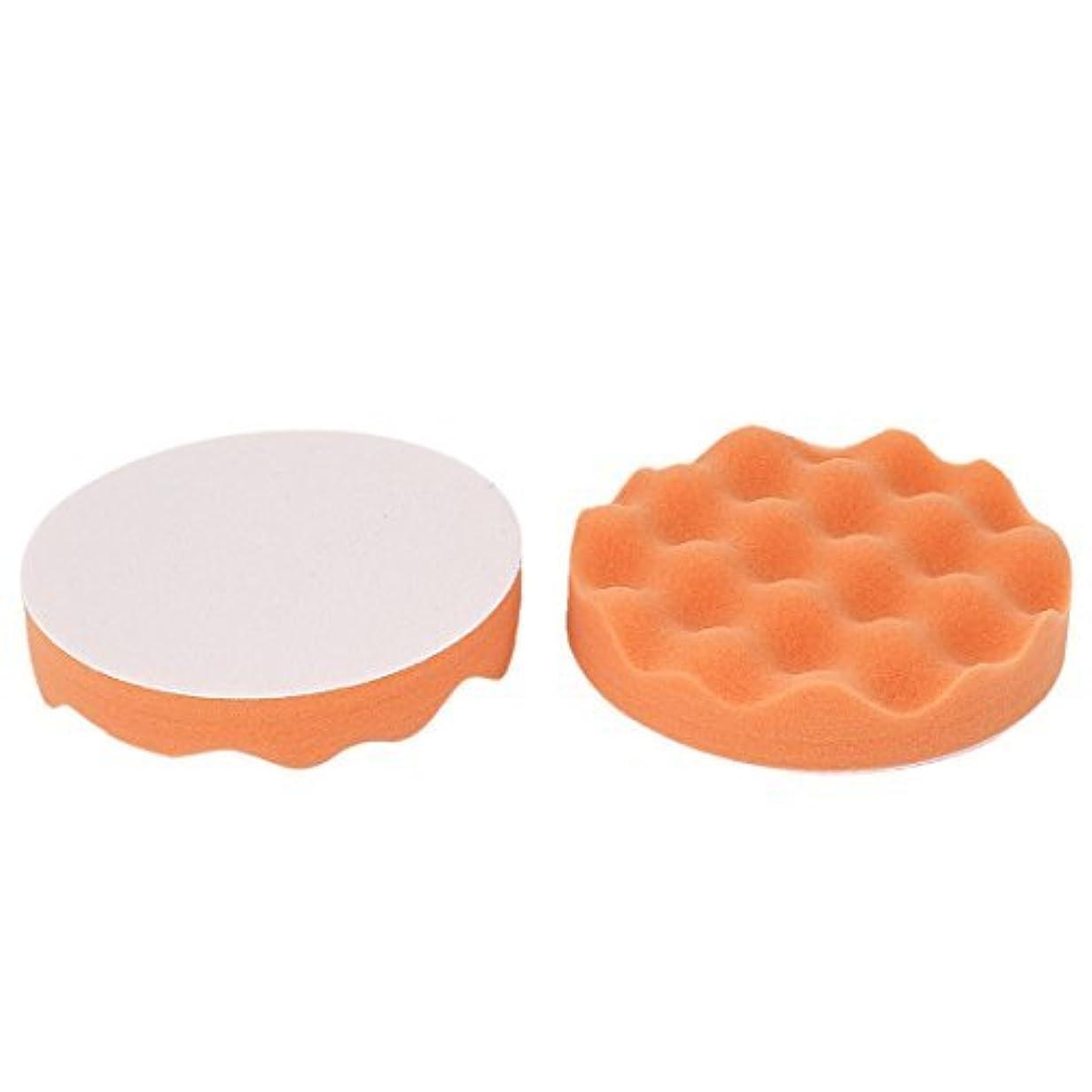 ライフルブラシスラム街2個ウェーブ研磨クリーニングパッドオレンジ15センチメートルディア