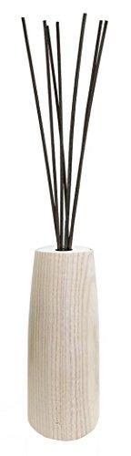 Millefiori Vaseförmigen Ellise Diffusor 250 ml Air Design inklusive Stäbchen, Natur Holz, 10.4 x 10.3 x 24.1 cm