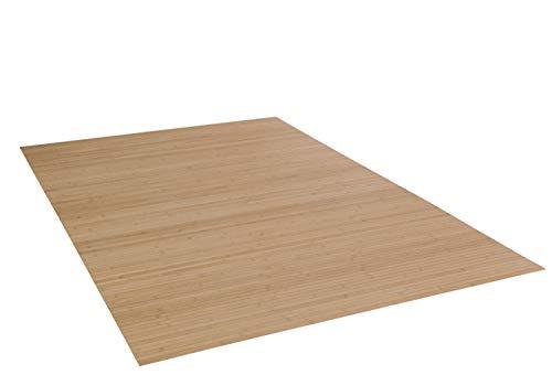 DE-COmmerce Bambusteppich Massive Pure, 170x240 cm, 17mm gehärtete Stege   die Neue Generation Bambusteppich   kein Bordürenteppich   Teppich   Wohnzimmer   Küche Made IN Germany