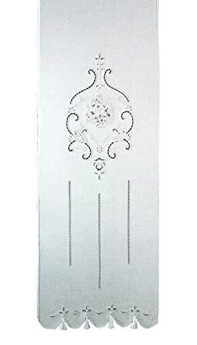 Zenoni & Colombi Coppia di Tende Ricamate a Mano Marie Claire Made in Italy Misto Lino Varie Dimensioni (45x180)