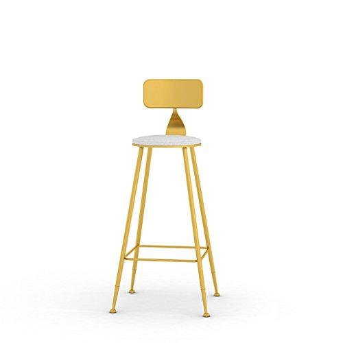 Chaise de bar de créativité, Iron art Simple Chaise haute bar chaise restaurant Café fauteuil Tabouret haut Tabouret de décoration domestique 44 * 44 * 105CM (Couleur : Or)